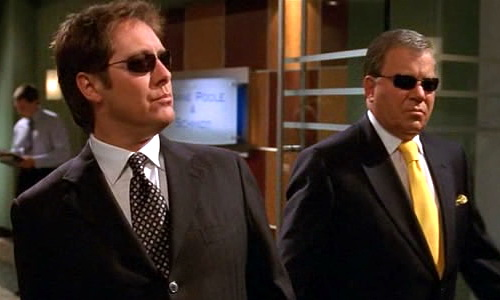 "Alan Shore (James Spader) and Denny Crane (William Shatner) on ""Boston Legal"""