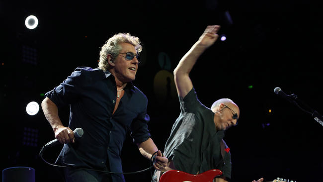 Roger Daltrey and Pete Townshend on The Who Hits 50! tour