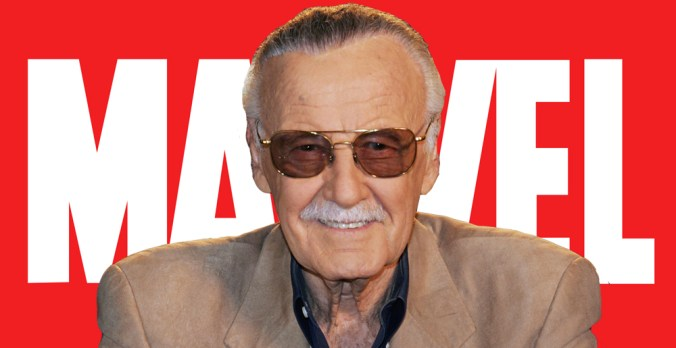 Writer Stan Lee, creator of Iron Man, the Hulk, and the Fantastic Four, among others