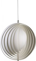 Lampe design Moon Verpan blanche diam. 34 cm