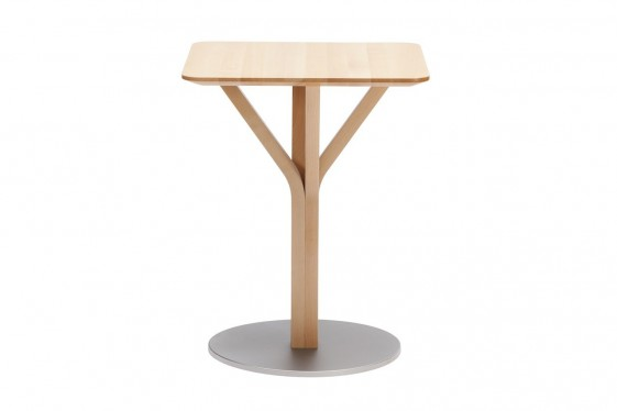 petite table en chene carree bloom central 274 60 x 60 cm seanroyale