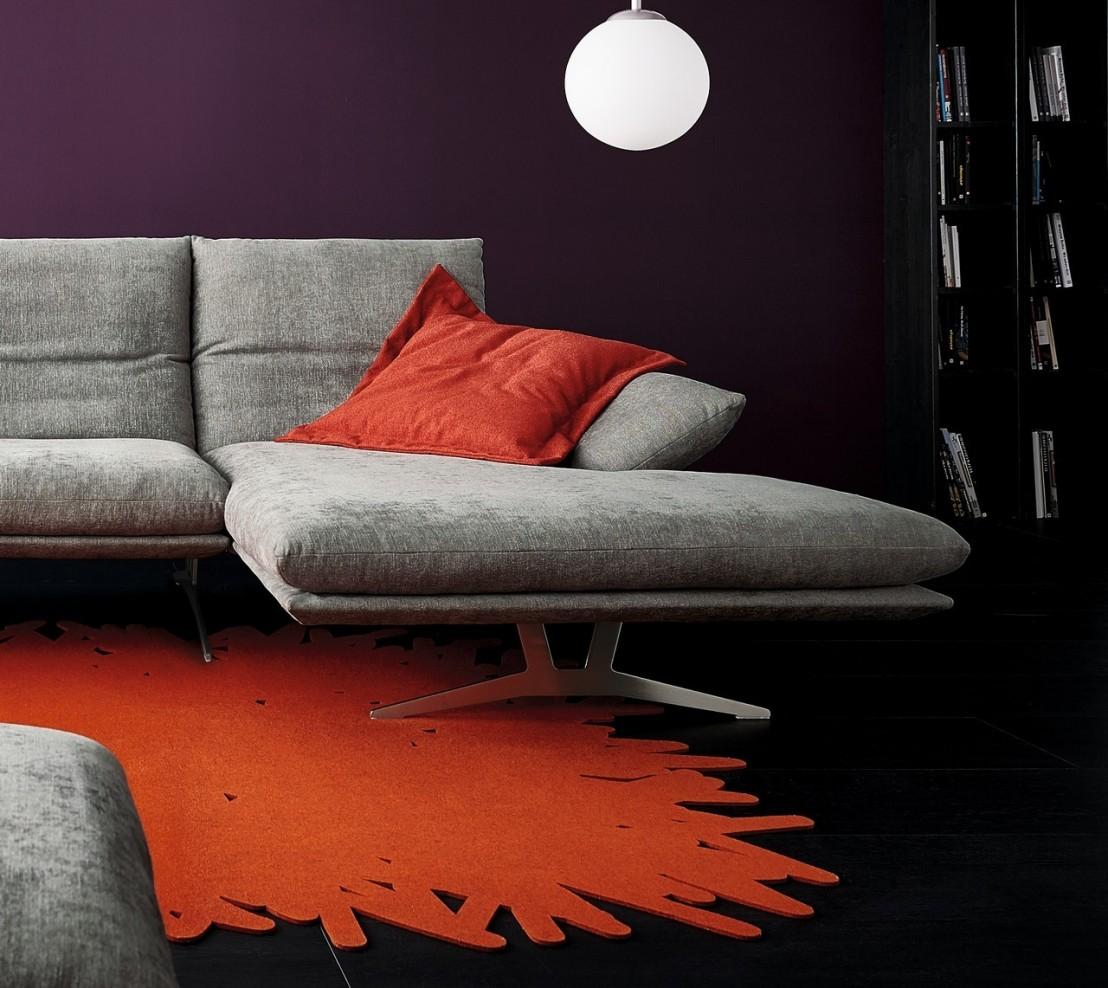 Canap Dangle Design ADSENSO 3 Places Avec Chaise Longue
