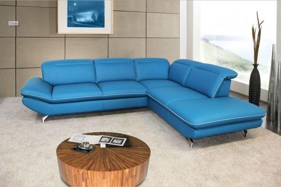 canape d angle blue monday cuir ou tissu 5 places design finition passepoil