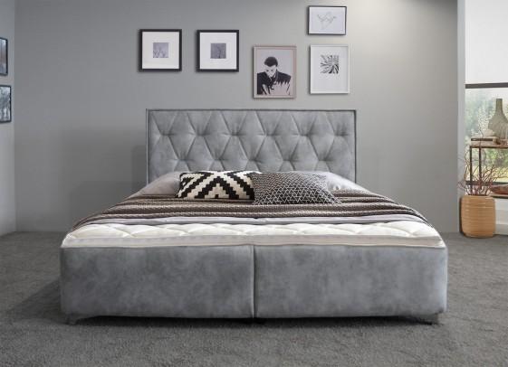 lit double dolce notte 160 cm queen size cuir ou tissu tete de lit finition passepoil seanroyale