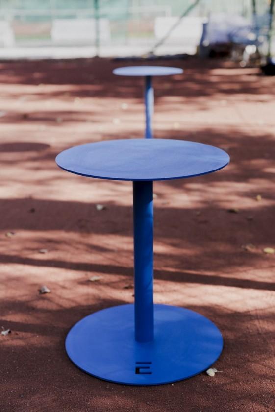 pouf ou petite table de jardin terrasse design en metal spulka