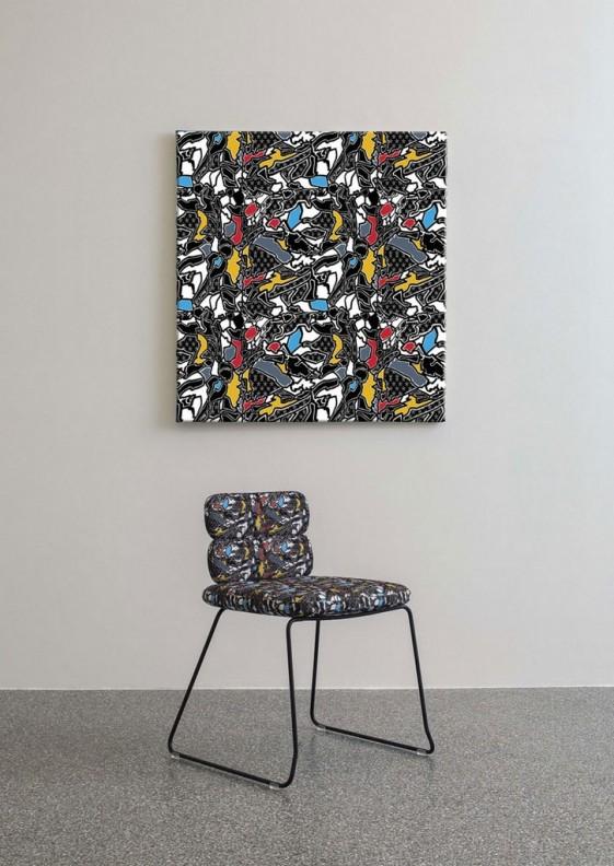 chaises design cluster pieds luge noir blanc ou chrome