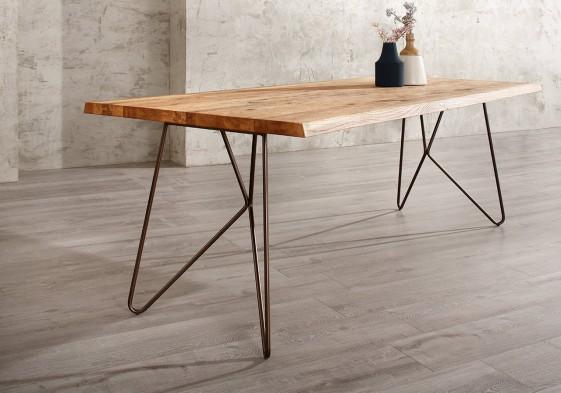 tres grande table bois 100 x 250 cm en chene monsieur t