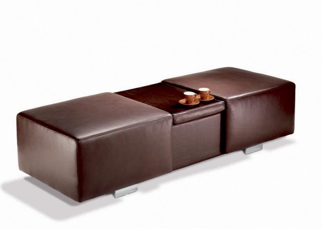 Grand Pouf Coffre Amp Bar Rectangulaire LONGRUN