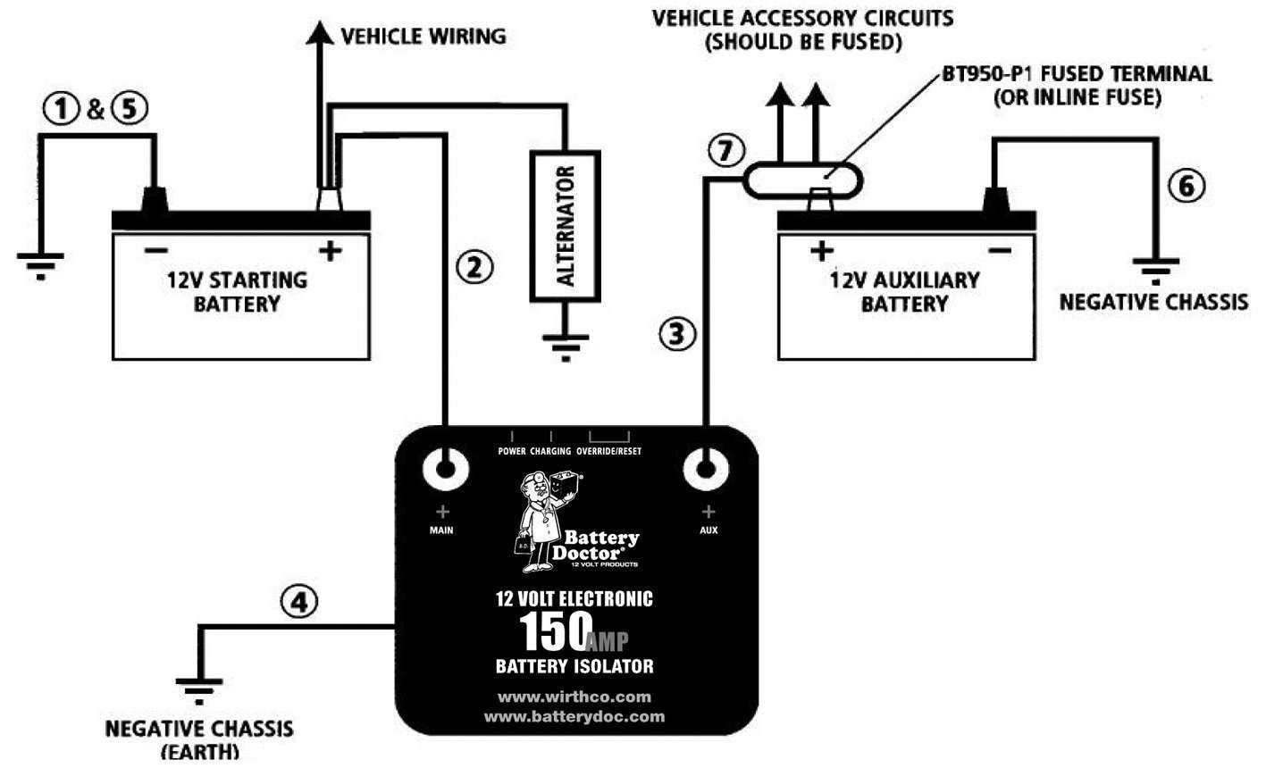 True Battery Isolator Wiring Diagram