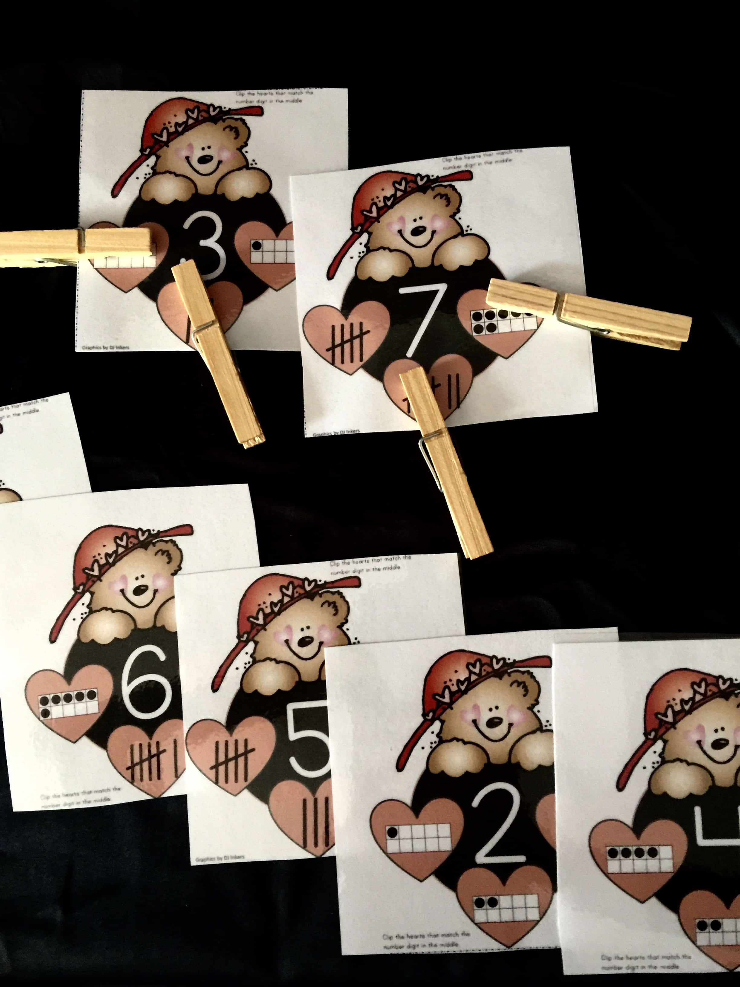 Number Counting Tally Marks And Ten Frame Clip Cards