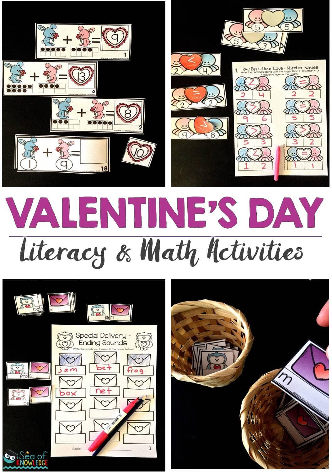 Ending Sounds Scrambled Sentences Valentines Day Activities