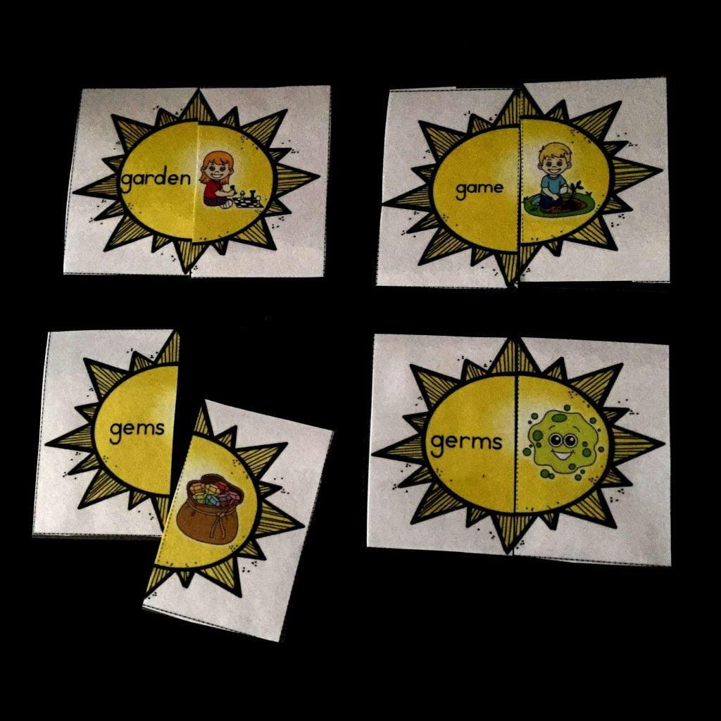 Classroom Freebies Hard And Soft G Sound Sort Sun Puzzles