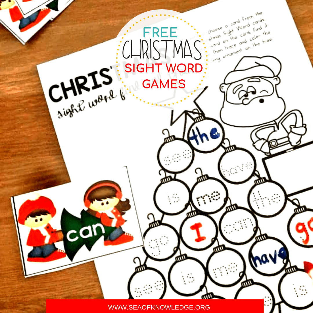 Free Printable Christmas Sight Word Games Your Kids Will Fight Over