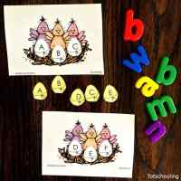 Alphabet Matching Uppercase Lowercase Easter Chicks Free