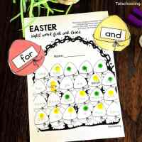 Easter Sight Word Worksheets Free