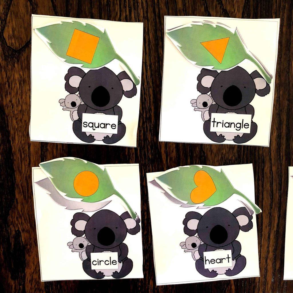 Alphabet And Shape Match Puzzles Koala Theme
