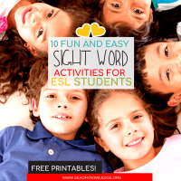 10 Fun & Easy Activities to Teach Sight Words for ESL Students