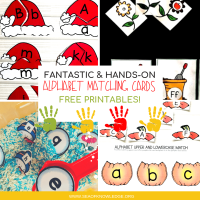 Alphabet Matching Cards Fantastic Hands-on Free Printables!