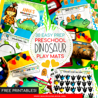 Hands-on Personalised Dinosaur Printable Learning Book - Simple Setup!