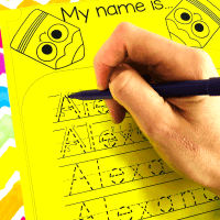 Full-proof Editable Name Tracing Activities for Preschoolers