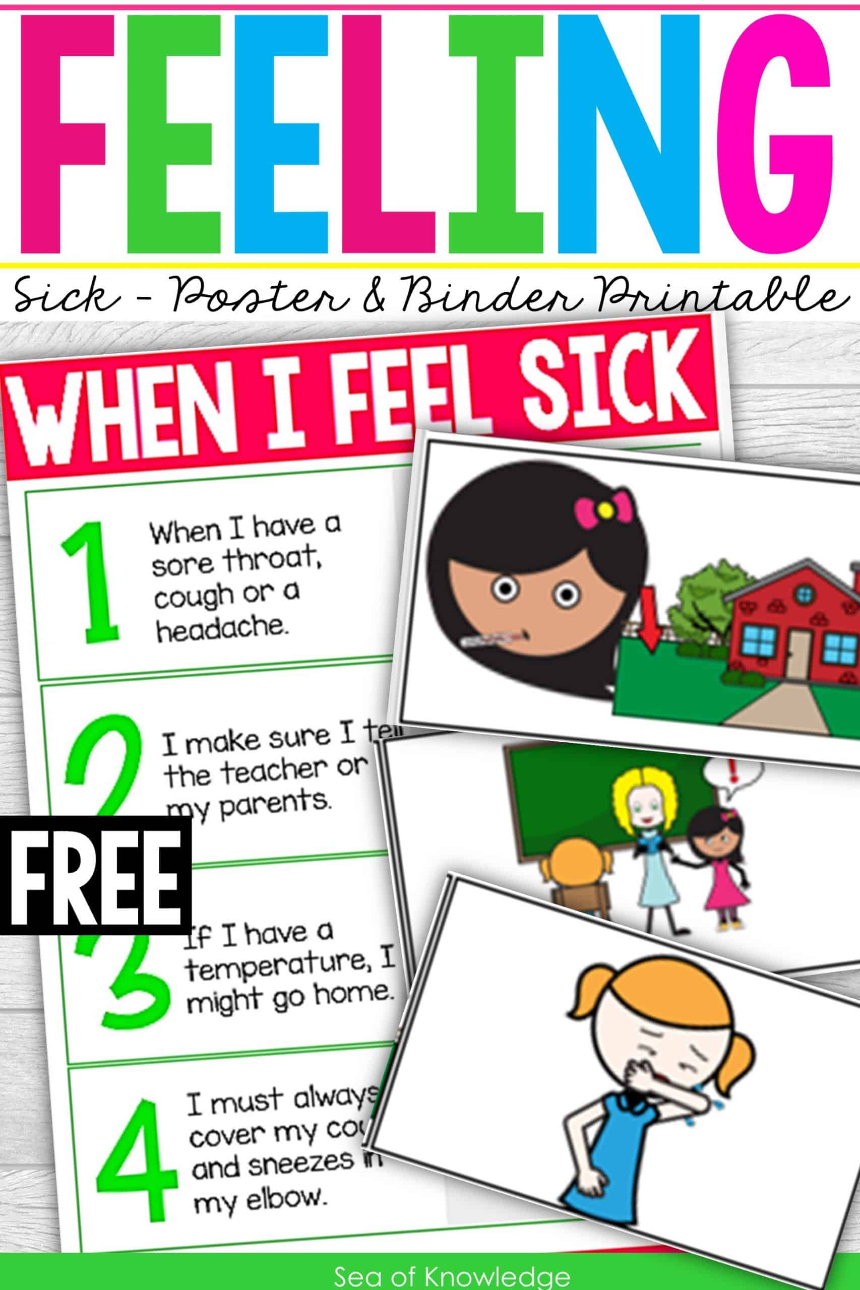 Sick Posters for Classrooms + Printable Binder Activity