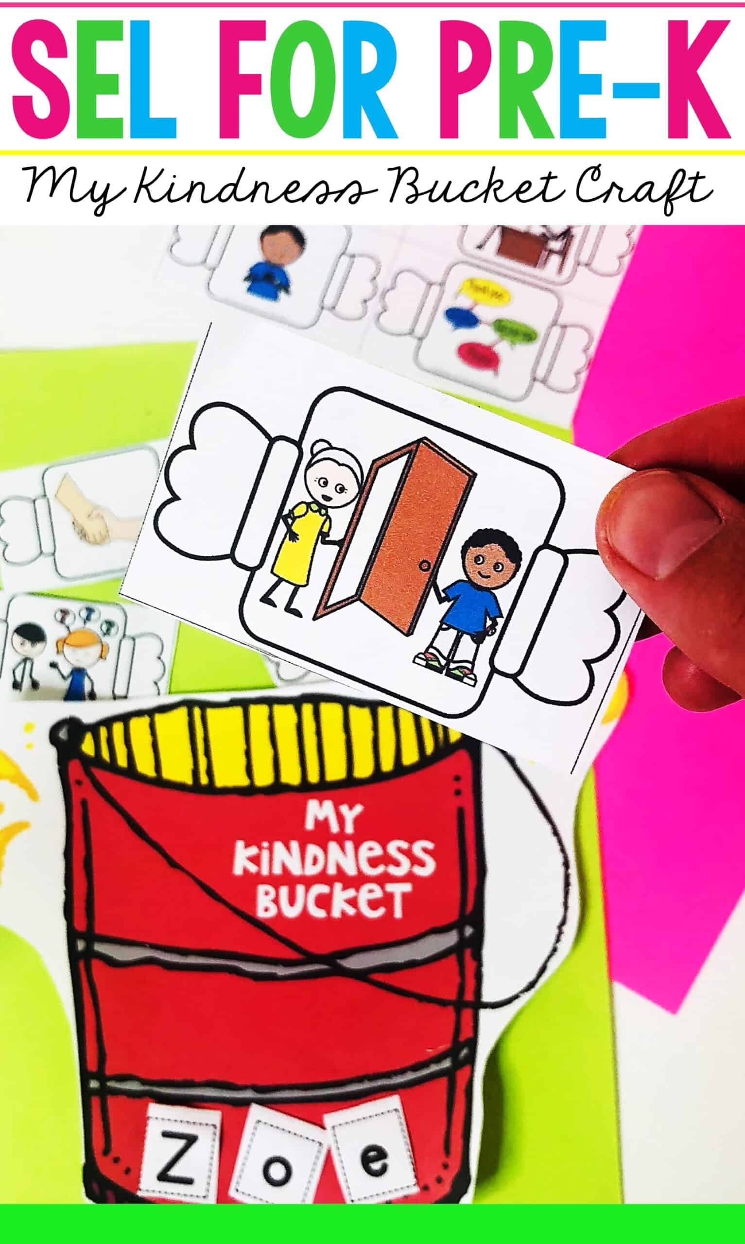 Kindness Art Activities for Preschool Fill a Bucket Craft