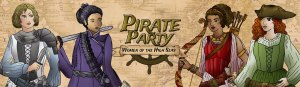 Female pirate captains Pirate party women of the high seas a card game from Seaport Games