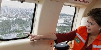 Chuvas no ES: Presidente Dilma Rousseff sobrevoou a região da Grande Vitória