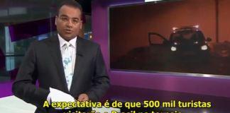 Repórter estrangeiro fala da segurança publica no Brasil durante a Copa do Mundo