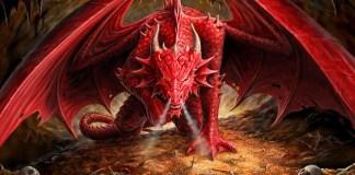 A serpente que virou um grande dragão