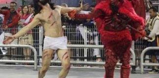 Escola de samba desrespeita a fé cristã e sugere que Cristo foi derrotado pelo Diabo