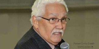 Pastor Levy Conde, 'termina os dias do seu ministério e volta para casa'