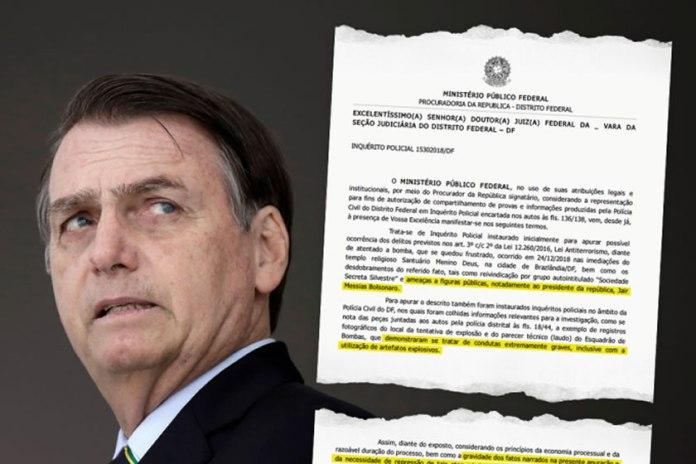 Grupo terrorista ameaça matar Bolsonaro e ministros