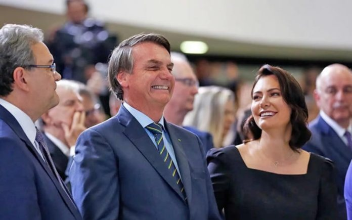 Presidente Jair Bolsonaro participa de culto no Palácio do Planalto