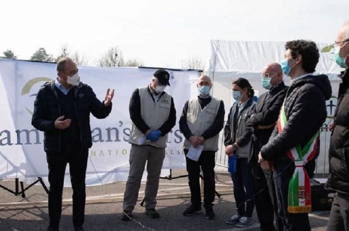 Hospital temporário é aberto por instituição cristã na Itália