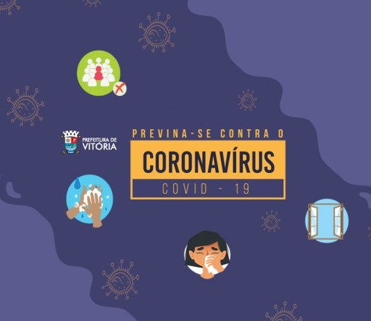 Cartazes espalhados na PMV trazem conscientização sobre prevenção do coronavírus