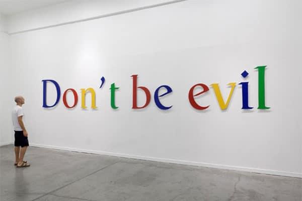 """Résultat de recherche d'images pour """"don't be evil"""""""
