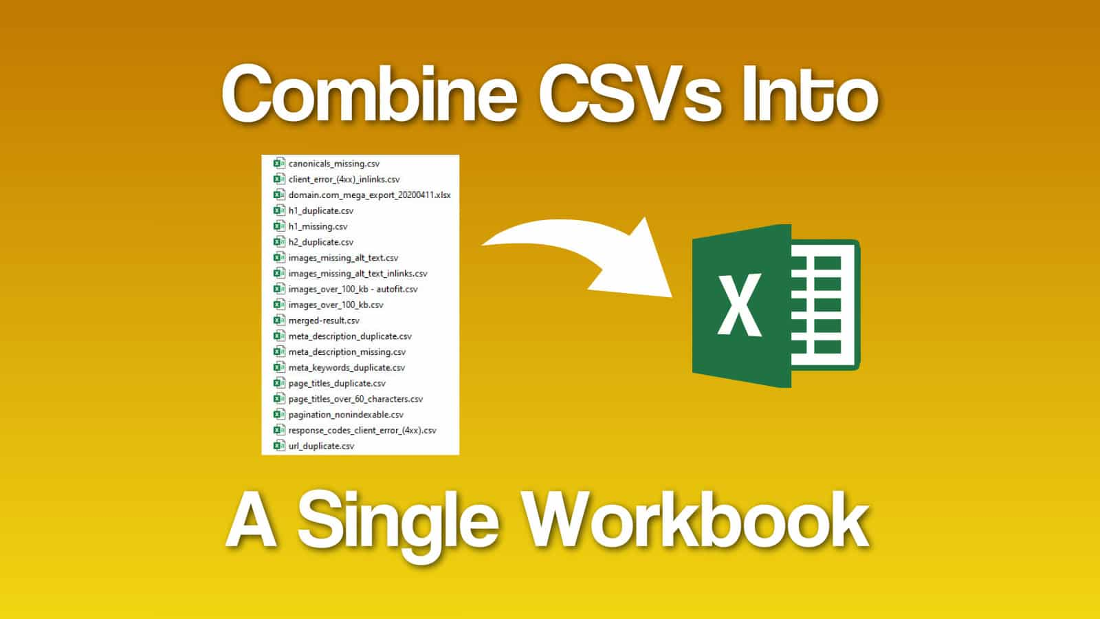 Sheets To Workbook Consolidator