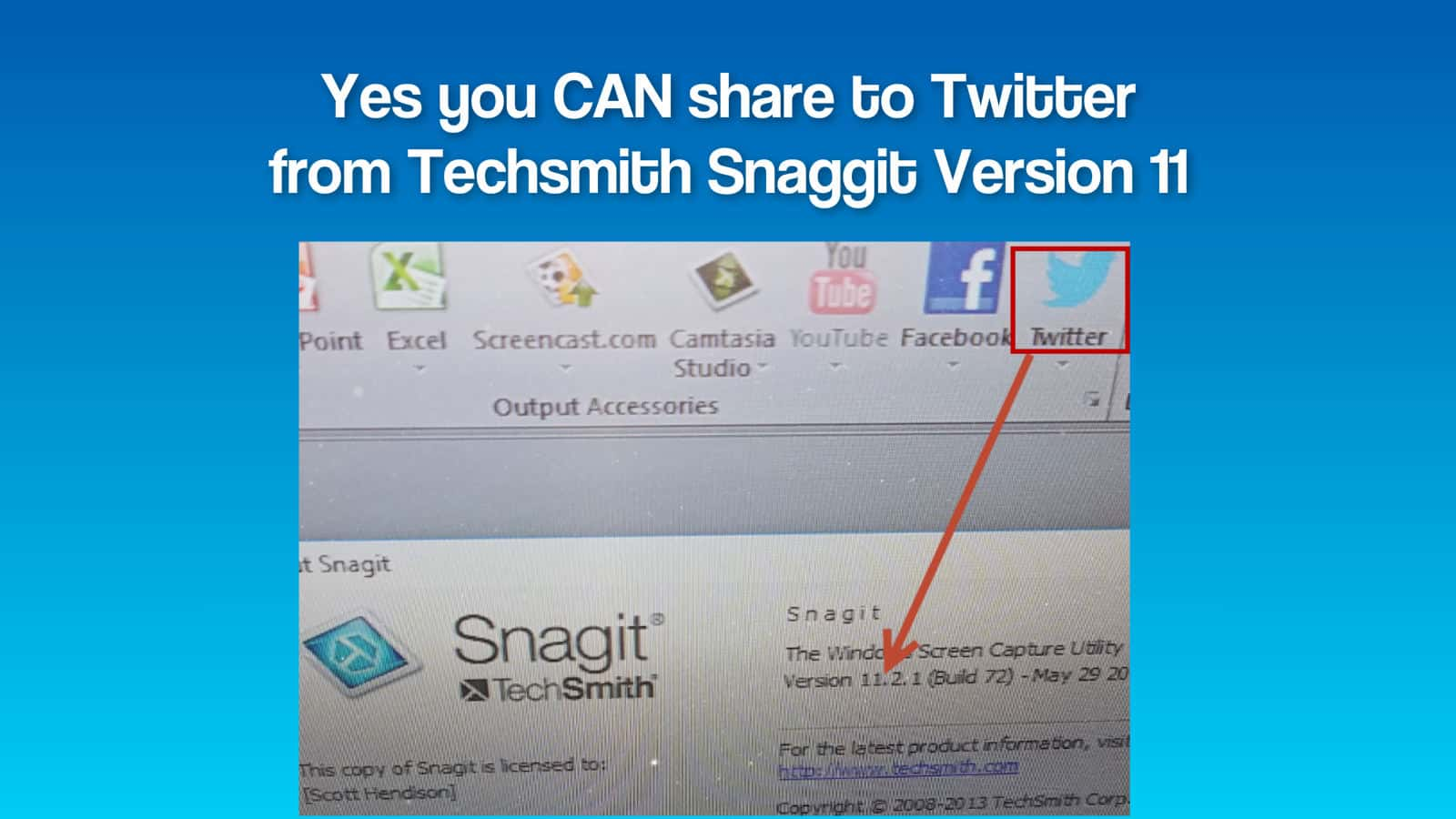 You Can Share To Twitter From Techsmith Snaggit 11