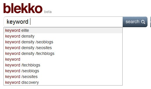 Blekko Keyword Suggest