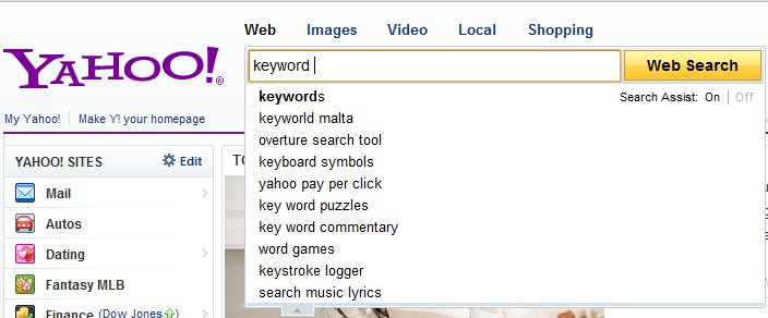 Yahoo Keyword Suggest