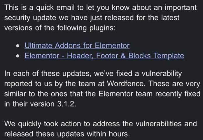 Screenshot of Brainstorm Force email