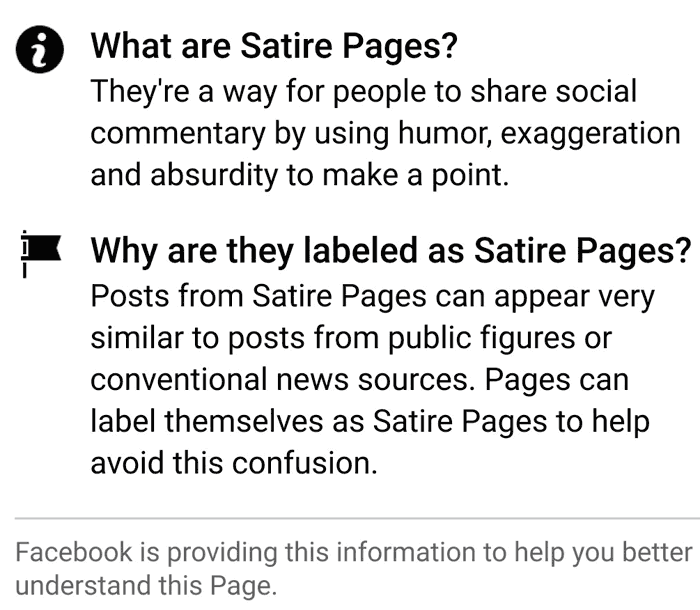 , Fb Including Context Labels to Pages Seen in Information Feeds, Docuneedsph