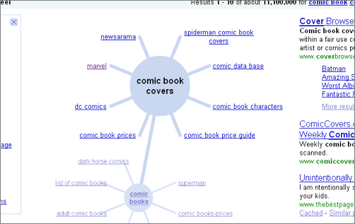 Gogle keyword research: Wonder Wheel