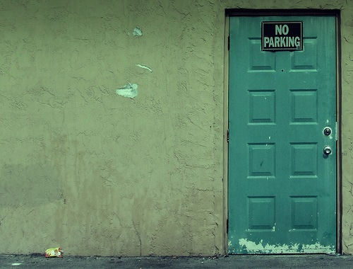 No Parking Door by Aaron Escobar (the spaniard)