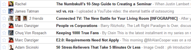 Google Reader People You Follow