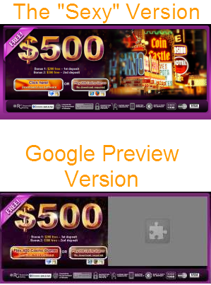Google Instant Previews doesn't do Flash