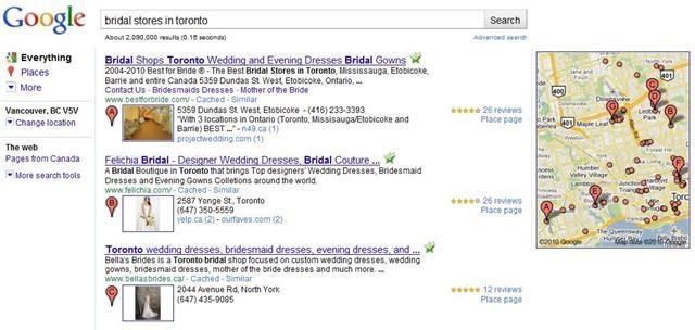 toronto-bridal-stores-google