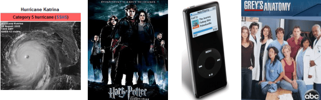 2005: Hurricane Katrina, Harry Potter, iPod, Grey's Anatomy