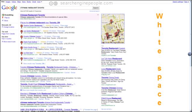 Google SERP test: no left margin?